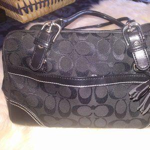 $35 Coach  Signature Canvas Handbag